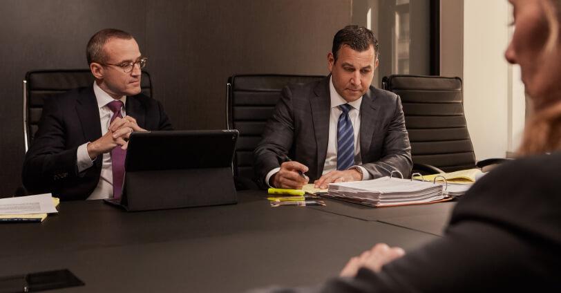 attorneys john damashek and jordan hecht analyzing a case