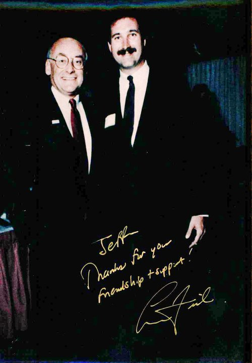 Signed photo of Jeff standing with Former Lieutenant Governor, 2010 Democratic Candidate for U.S. Senate, and Former Ohio Attorney General Lee Fisher