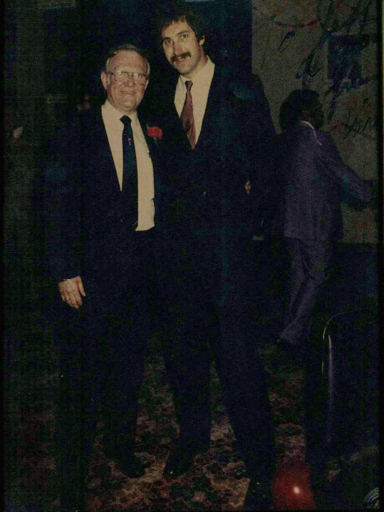 Jeff standing with the Late Ohio General Assembly Representative Speaker Vernal G. Riffe