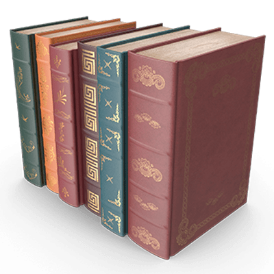 A row of books symbolizing the foreign law under which divorces may be obtained.