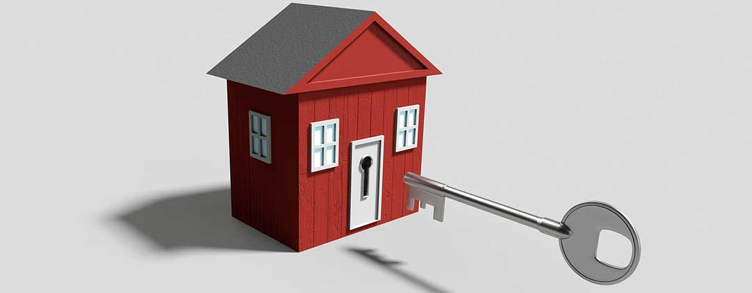 A locked house showing that improper mortgage contracts may lead to the loss of your property.