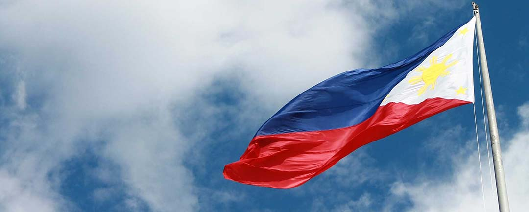 The Philippine flag to denote the embassies that the article quotes.