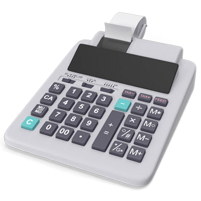 A grey calculator with small printer to symbolize the estate taxes that need to be paid on any inheritance.