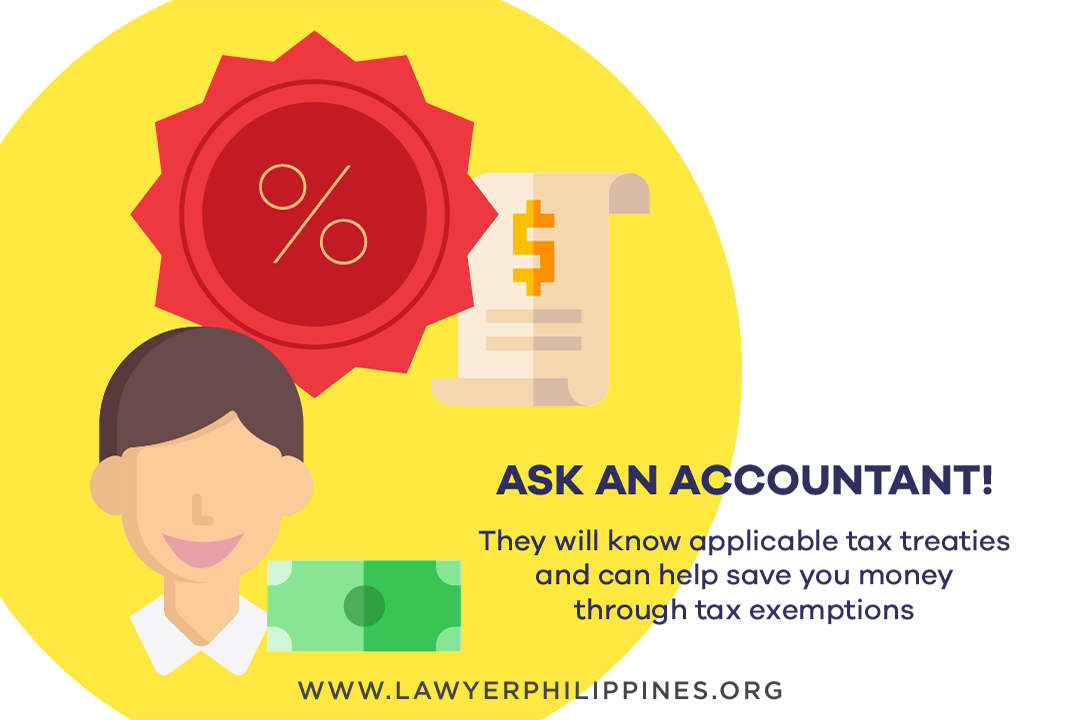 An accountant helps calculate estate taxes.