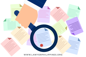 Numerous documents with a magnifying class on top