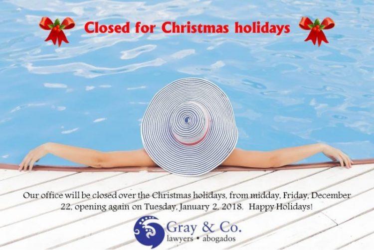 Panama, Christmas, lawyers, office, closed, staff, Christmas Holidays 2017, New Years, public holidays,