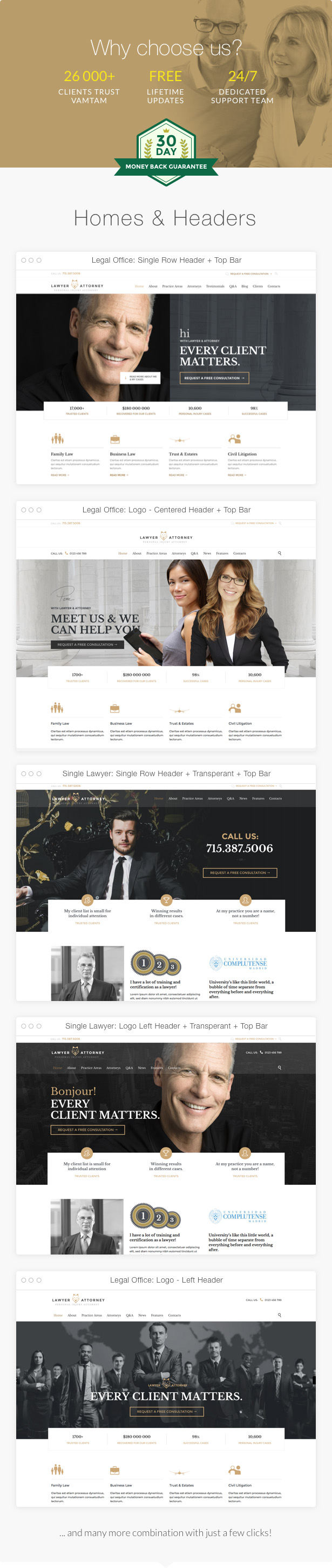 Lawyer & Attorney - Theme for Lawyers Attorneys and Law Firm 1