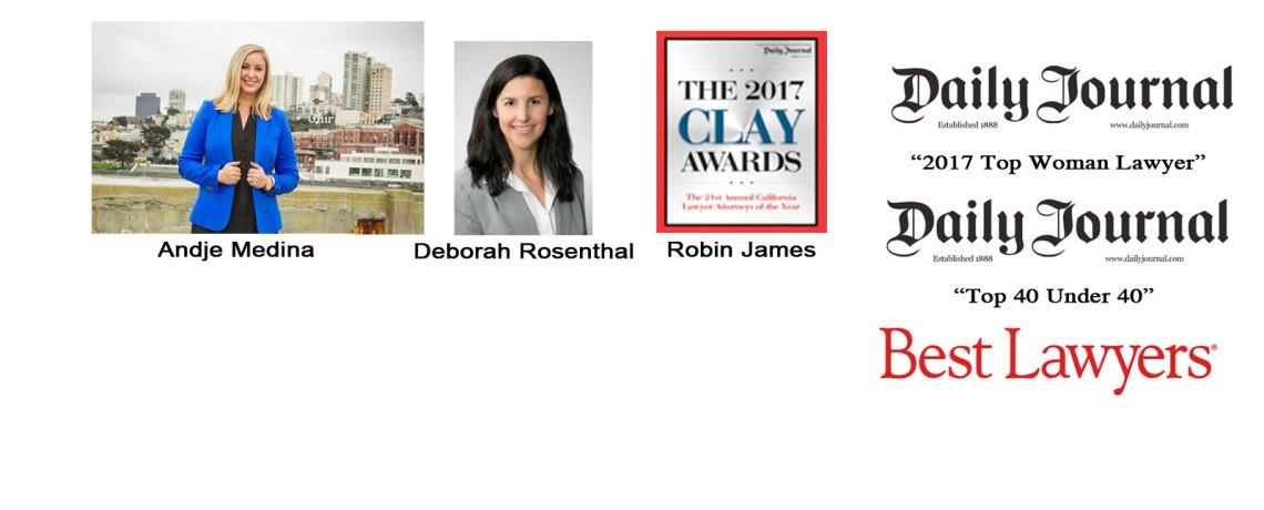 Congratulations Andje Medina, Robin James & Deborah Rosenthal!