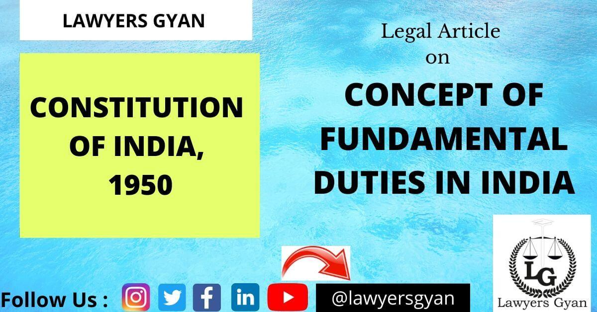 Concept of Fundamental Duties in India