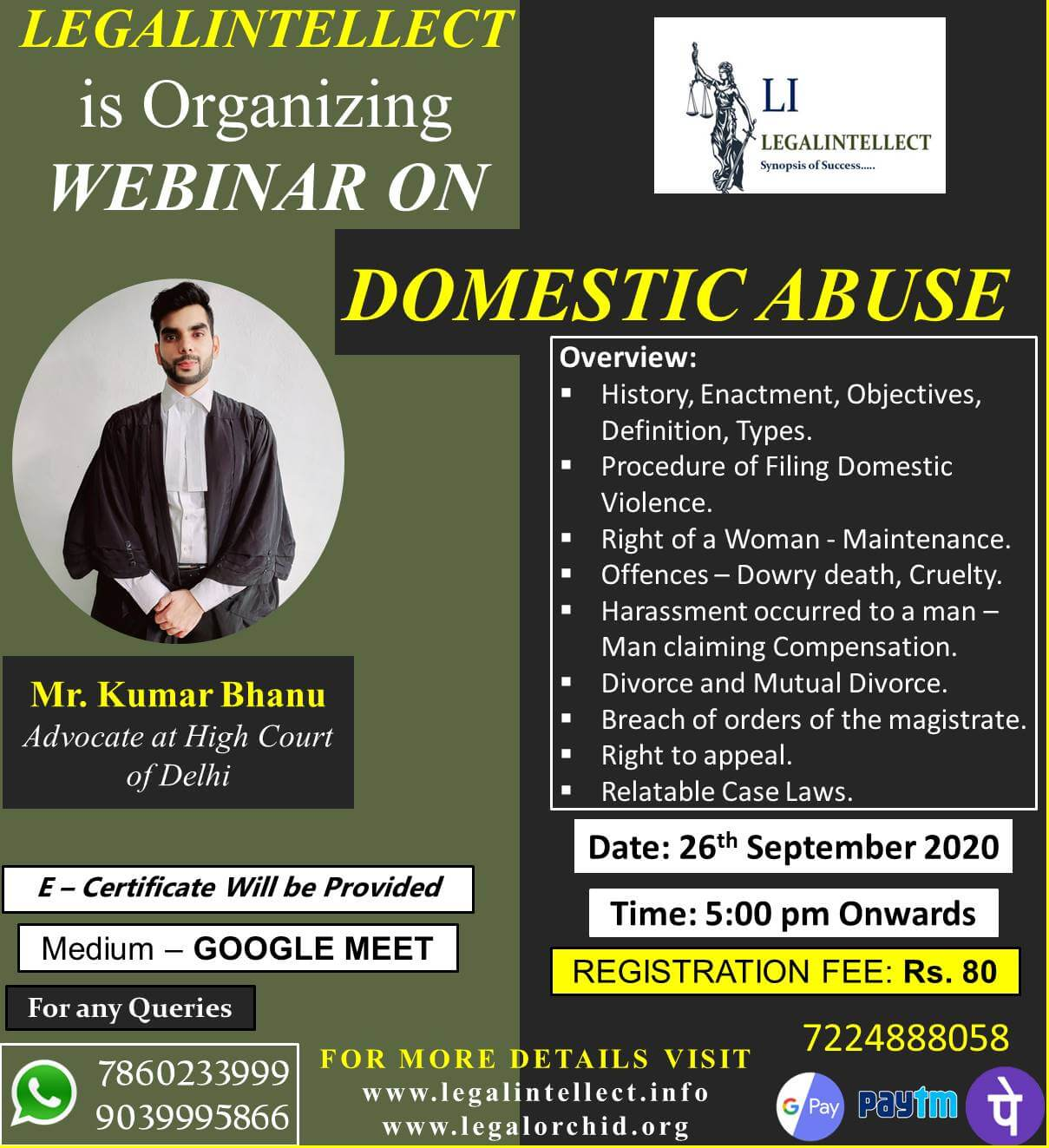 WEBINAR ON DOMESTIC ABUSE