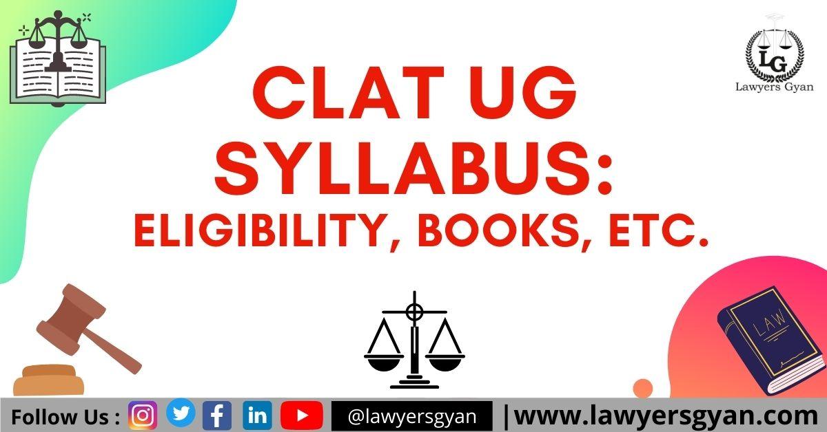 CLAT UG Syllabus