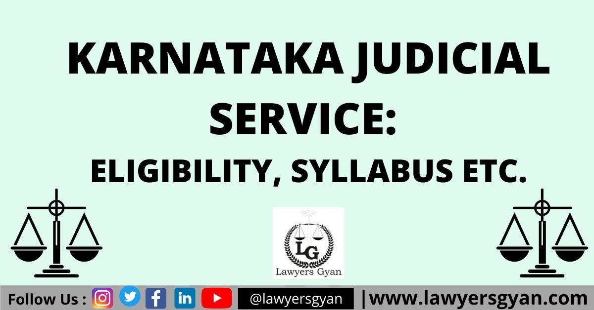 Karnataka Judicial Service