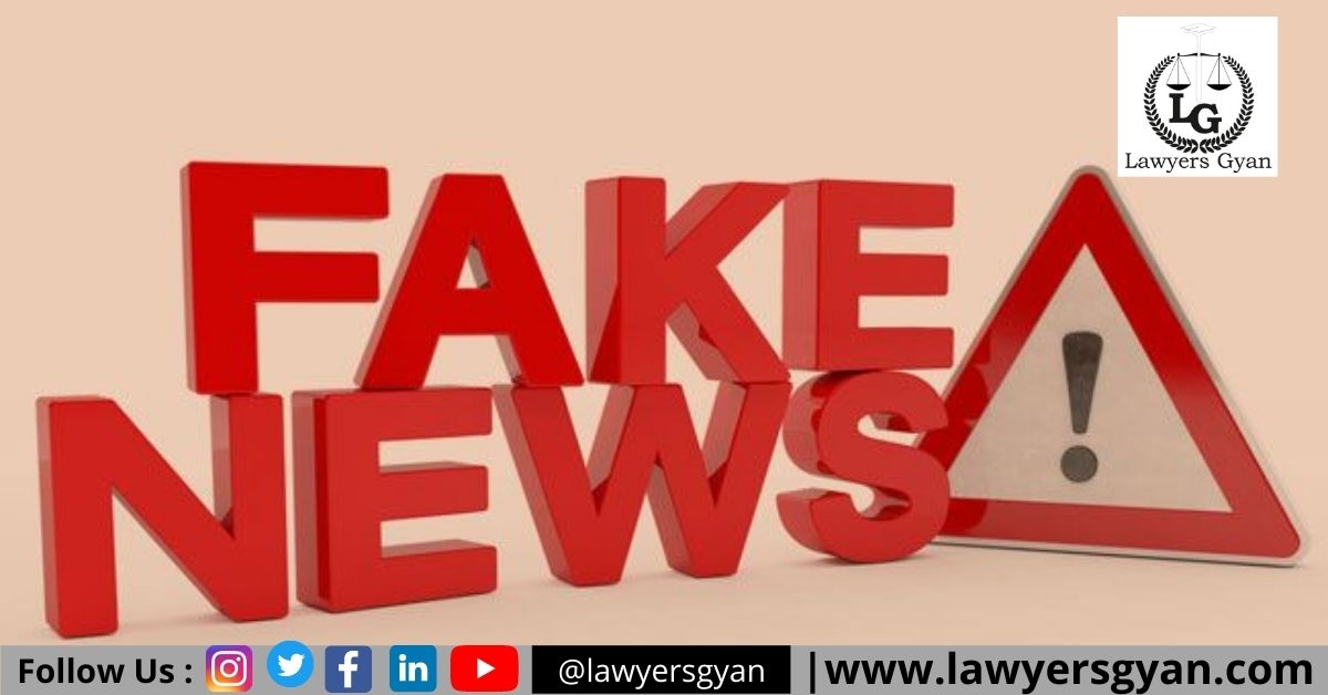 FAKE NEWS AND ITS LEGAL CONSEQUENCES