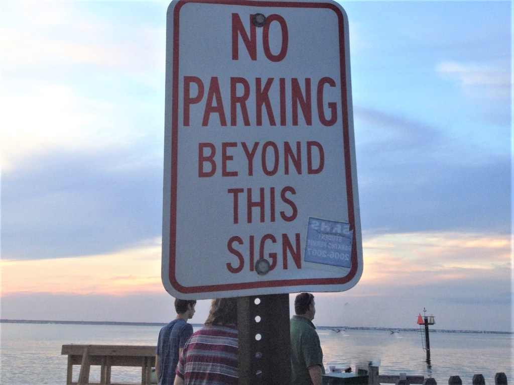 A parking threat mars the scenery on Long Beach Island, N.J. Photo credit: L. Tripoli