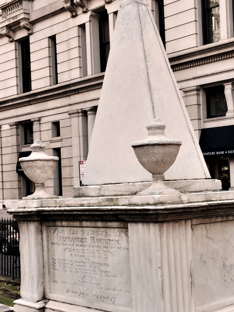 Alexander Hamilton's grave at Trinity Church in New York City. Photo credit: Lori Tripoli