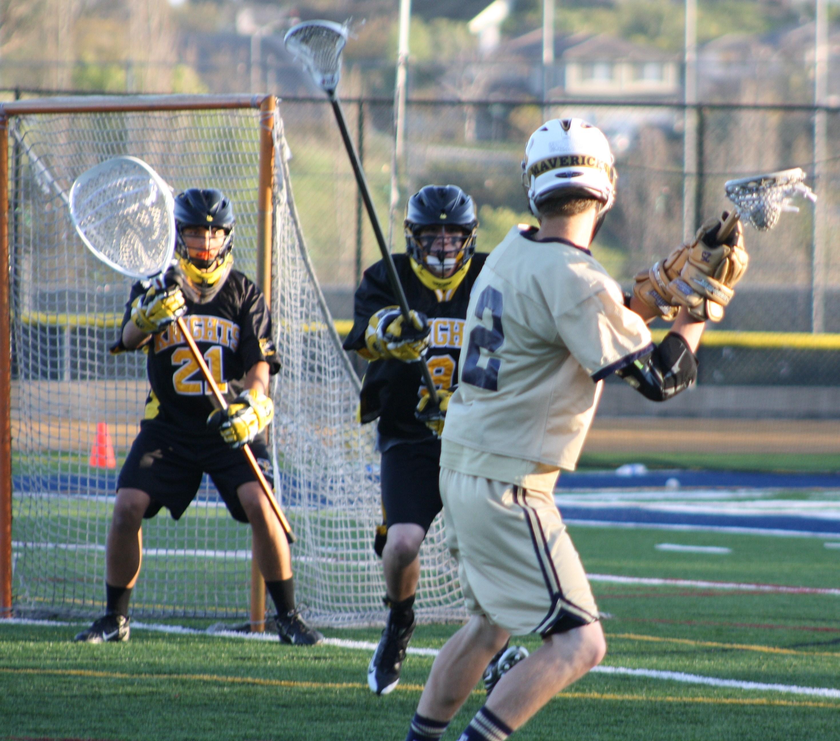 """Best Of Western Lacrosse: """"Foothill Knights Vs. La Costa Canyon Mavericks"""" Photo by LaxBuzz"""