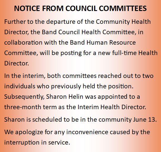 health director post June12 2018