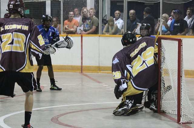 box lacrosse ground ball swing shoot pregame practice drill