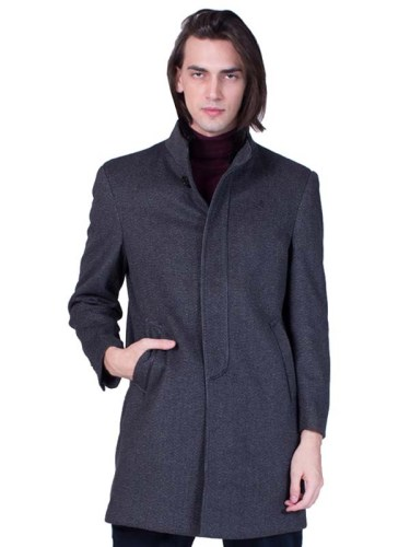 Cashmere Coat Men Grey