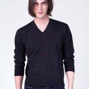 Basic V-Neck Sweater Black