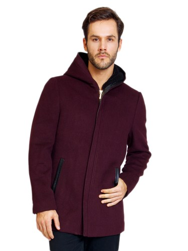 Men's Overcoat Maroon
