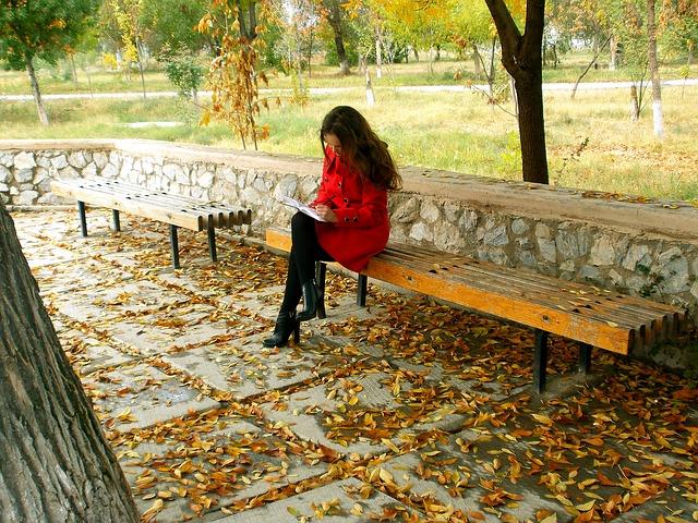 Schreiben im Park und an anderen inspirierenden Orten