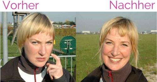 Vorher und nachher - Sprung aus 4500 Metern Höhe