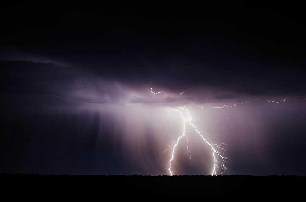 Das Gewitter war gewaltig
