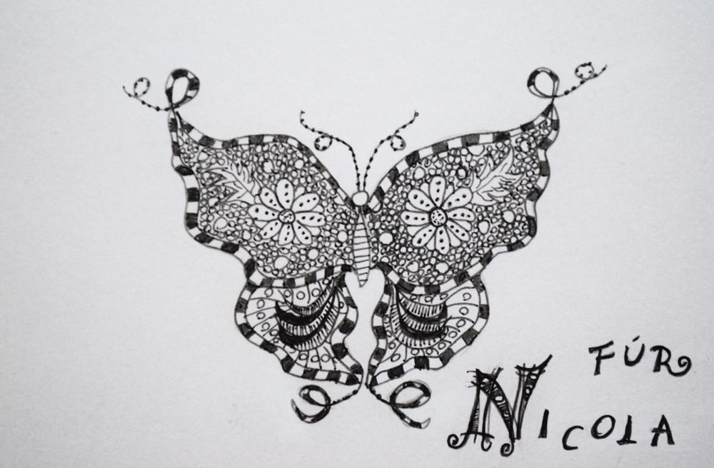 Schmetterling Zentangle