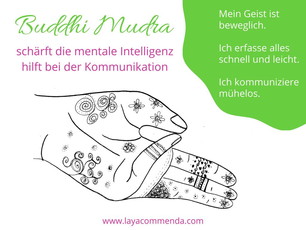 Buddhi Mudra macht schnell und schlauf