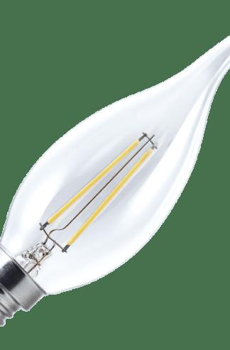 437117 - Vela Chama Filamento 2W - 110V - 2700K - Brilia - LED