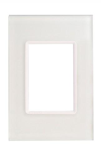 "Placa ICE Natur (3 módulos) 4"" x 2"" - Delta Mondo Lx (5TG9 851-5PA13)"