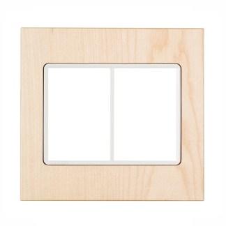 """Placa Platano Natur (6 módulos) 4"""" x 4"""" - Delta Mondo Lx (5TG9 852-1PA12) SIEMENS"""