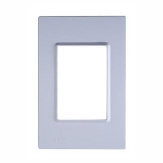 """Placa Azul Glacial (3 módulos) 4"""" x 2"""" - Delta Mondo (5TG9 861-5PA04) - SIEMENS"""