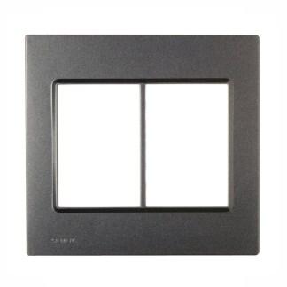 """Placa Carbono Metálico (6 módulos) 4"""" x 4"""" - Delta Mondo (5TG9 862-1PA03) - SIEMENS"""