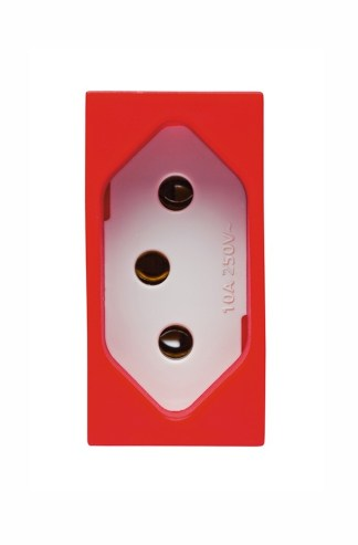 Tomada 2P+T 10A (Vermelha) - Vivace (5UB9 9307) - SIEMENS