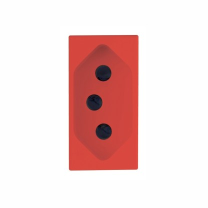 Tomada 2P+T 10A (Vermelha) - Delta Mondo (5UB9 850-4PA06) - SIEMENS