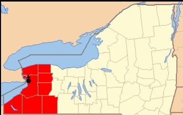 Map of Diocese of Buffalo