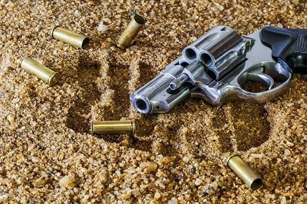Gun with spent shells