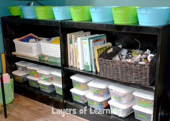 Karen's book shelves
