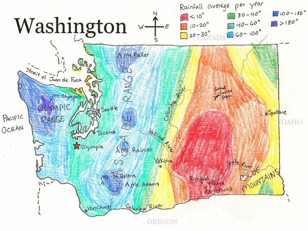 Washington State Geography Worksheet