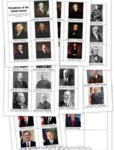 Memorize the Presidents Printable Cards