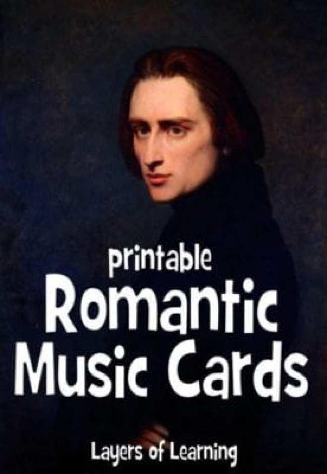 Romantic Music Cards 1