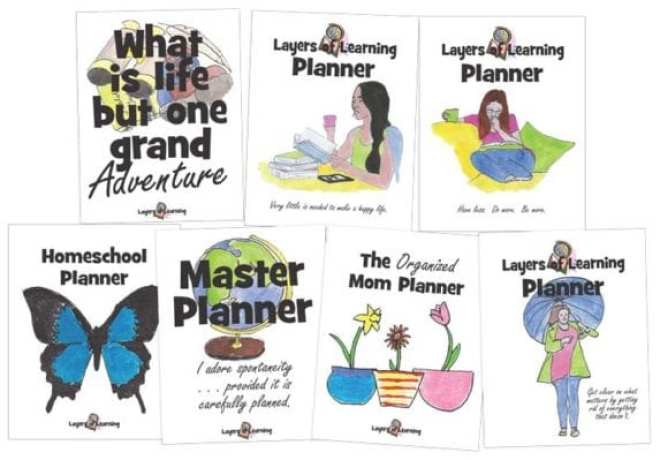 Layers of Learning Planner covers