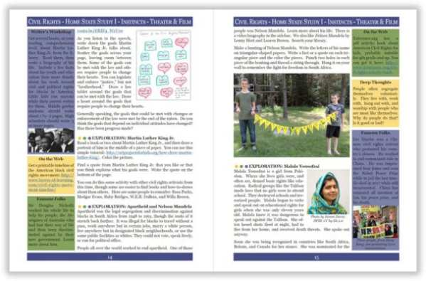 Layers of Learning Unit 4-18 sample pages