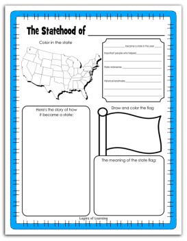 Statehood Notebooking Page