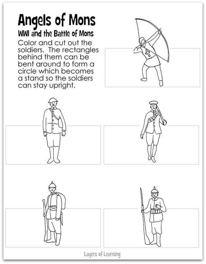 Printable Battle of Mons figures