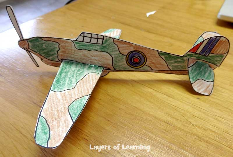 Printable planes from World War Two to color and craft.