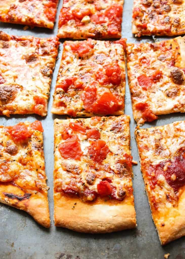Copycat Dominos Thin Crust Pizza Recipe Layers Of Happiness