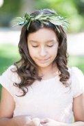 Olive flower girl halo
